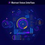 Concepto futuro abstracto del interfaz Fotos de archivo libres de regalías