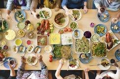 Concepto gastrónomo culinario del partido de comida fría de la cocina del abastecimiento de la comida Fotos de archivo