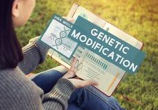 Concepto genético de la química de la biología de la modificación de la mutación fotos de archivo libres de regalías