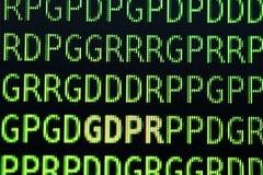 Concepto general de la regulación de la protección de datos de GDPR Imagen de archivo libre de regalías