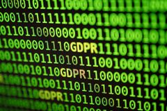 Concepto general de la regulación de la protección de datos de GDPR Stock de ilustración