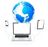 Concepto global de Internet del establecimiento de una red del equipo Imagen de archivo