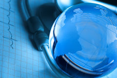 concepto global de la atención sanitaria Imagen de archivo
