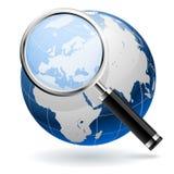 Concepto global de la búsqueda stock de ilustración