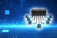 Concepto global de la comunicación de la red de ordenadores 3d rinden libre illustration