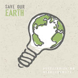 Concepto global de la ecología Fotografía de archivo