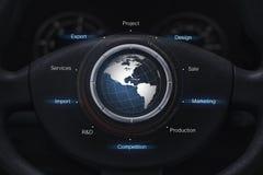 Concepto global de la industria automotriz Imagen de archivo