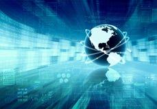 Concepto global de la información Imagenes de archivo
