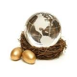 Concepto global de la riqueza Foto de archivo libre de regalías