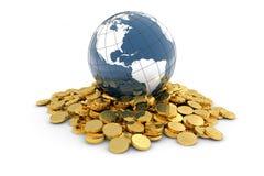 Concepto global de las finanzas Foto de archivo