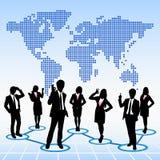 Concepto global de los recursos humanos ilustración del vector