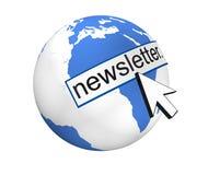 Concepto global del boletín de noticias Foto de archivo