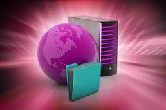 Concepto global del establecimiento de una red Foto de archivo libre de regalías