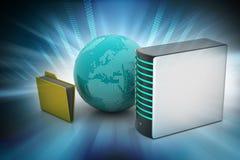 Concepto global del establecimiento de una red Imagenes de archivo