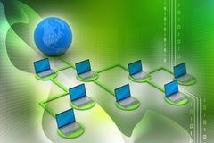 Concepto global del establecimiento de una red Imágenes de archivo libres de regalías