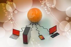Concepto global del establecimiento de una red Fotografía de archivo libre de regalías