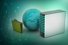 Concepto global del establecimiento de una red Imagen de archivo libre de regalías