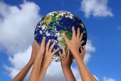 Concepto global del futuro de la tierra de madre Imágenes de archivo libres de regalías