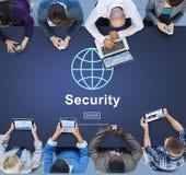 Concepto global del homepage de la tecnología de la seguridad de datos Imagen de archivo libre de regalías