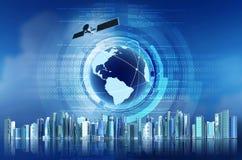 Concepto global del Internet Imagen de archivo