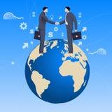 Concepto global del negocio del trato Foto de archivo libre de regalías