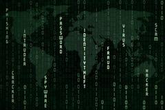Concepto global del spyware Imágenes de archivo libres de regalías