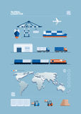 Concepto global del transporte libre illustration