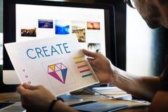 Concepto gráfico del ejemplo de las ideas de la creatividad del estilo del diseño fotografía de archivo libre de regalías