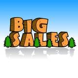 Concepto grande de la historieta de las ventas Fotografía de archivo libre de regalías
