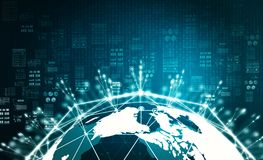 Concepto grande de la información de datos de Internet libre illustration