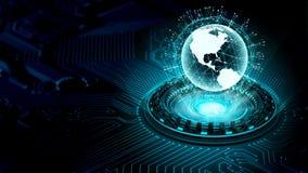 Concepto grande de la tecnología de la información de los datos y de Internet libre illustration