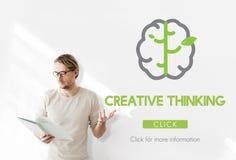 Concepto grande de las ideas del pensamiento creativo de los datos Fotografía de archivo