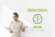 Concepto grande de las ideas del pensamiento creativo de los datos Fotografía de archivo libre de regalías