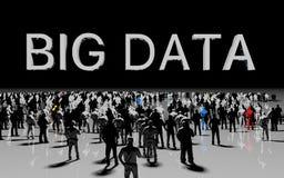 Concepto grande de los datos stock de ilustración