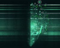 Concepto grande de los datos Fondo abstracto de la inteligencia artificial Dise?o est?tico del aprendizaje de m?quina ilustración del vector