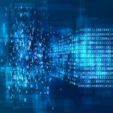 Concepto grande de los datos Visualización de la información de Digitaces Análisis de los algoritmos de aprendizaje de máquina de libre illustration