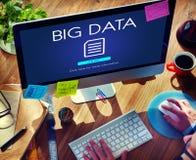 Concepto grande del establecimiento de una red de la tecnología de la información de datos imágenes de archivo libres de regalías