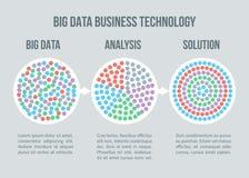 Concepto grande del vector de datos Analytics del negocio, solución para el planeamiento elegante libre illustration