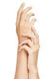 Concepto hermoso de la hembra Hands.Manicure Fotografía de archivo libre de regalías