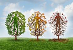 Concepto humano del envejecimiento stock de ilustración