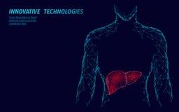 Concepto humano del negocio de la medicina del tratamiento de la hepatitis del hígado Doctor del centro médico de la atención san stock de ilustración