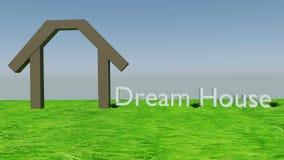 Concepto ideal de la casa Imagen de archivo