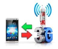 concepto inalámbrico de la comunicación 3G Imagen de archivo libre de regalías