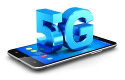 concepto inalámbrico de la tecnología de comunicación 5G Imagen de archivo libre de regalías