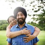 Concepto indio del cuidado del amor de los pares Fotografía de archivo