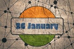 Concepto indio del día de la república Fotografía de archivo libre de regalías