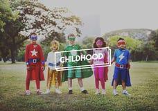 Concepto infantil del descendiente de los niños de los niños del niño de la niñez Foto de archivo libre de regalías