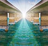Concepto infinito de los puentes Imagen de archivo