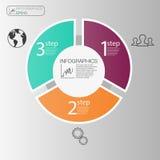 Concepto infographic de la esfera económica Elementos del círculo del vector para infographic La plantilla 3 infographic coloca,  Imágenes de archivo libres de regalías