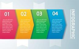 Concepto infographic de la flecha Vector la plantilla con 4 opciones, piezas, etapas, botones Puede ser utilizado para el web, di ilustración del vector